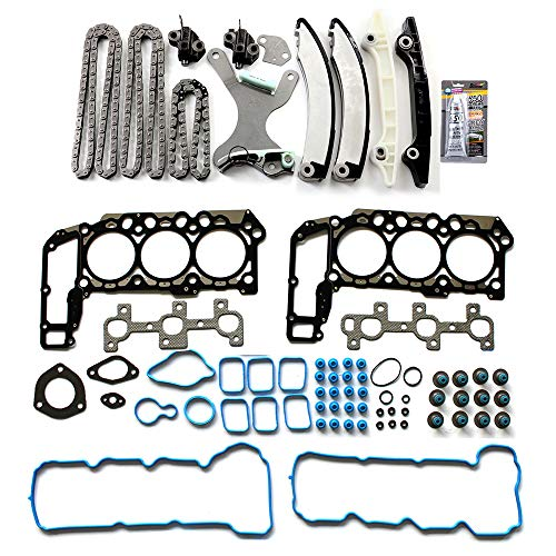 US Stock,Fast Shipping,ROADFAR Timing Chain Kit Head Gasket Set fits for 2005-2010 Dodge Jeep 2011-2012 Ram 1500 3.7L V6
