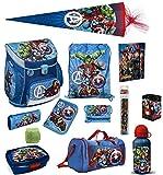 Familando Avengers Schulranzen-Set 16tlg Scooli Campus Fit mit Sporttasche Federmappe