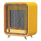 ZHKGANG Calefactor Eléctrico Portátil,Protección contra Sobrecalentamiento,Sistema Antivuelco,para El Hogar,Oficina,Dormitorio,Garaje,Cuarto De Baño,Yellow