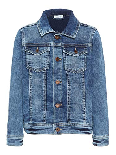 NAME IT Herren Jeansjacke Superweiche 164Medium Blue Denim