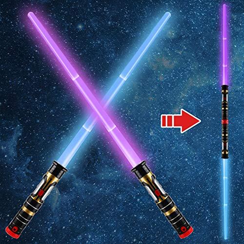 2-in-1 Light Up Saber(3 Color Changing) LED Dual Laser Swords