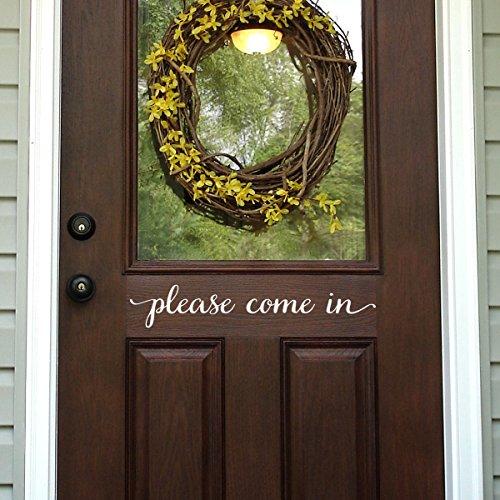 Gelieve te komen in deur Decal voordeur Decal Muursticker