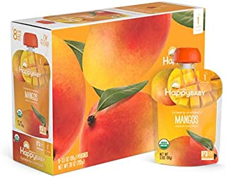Happy Baby Clearly Crafted Organic Baby Food Stage 1, Mangos, 3.5 Ounce, 16 Count
