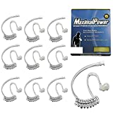 MaximalPower Twist On Replacement Acoustic Tube/Clear Coil for Two-Way Radio Headsets (10 Pack)