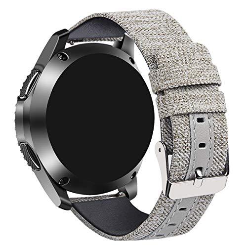 Tarask Armband kompatibel mit Huawei Watch GT/GT 2e / GT 2 (46mm) Armband Sportarmband Band Erstatzband mit Schließe (22mm, Grau)