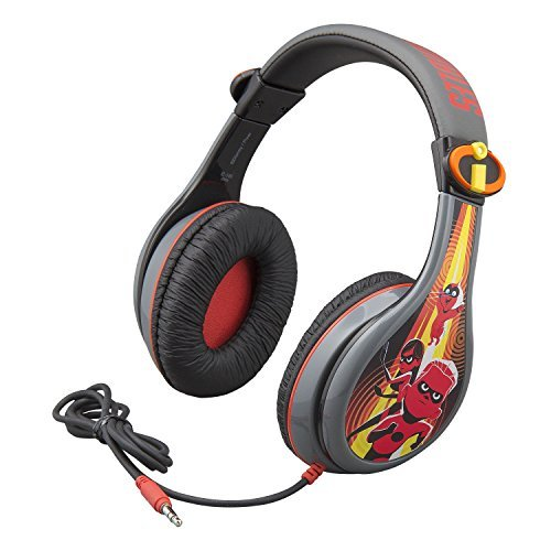 Incredibles 2 Headphones for Kids with Built in Volume Limiting Feature for Kid Friendly Safe Listening