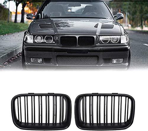 Coche Rejillas frontales de radiador para BMW E36 325I 320I 318Is 1992 1993 1994 1995 1996, arrilla de Delantera Malla Rejilla de Repuesto Grille Grill