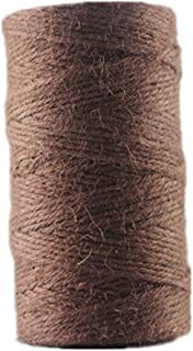 YPSelected 100 Meters Colourful Hemp Natural Jute Twine Hessian String Cord 2mm (Brown)