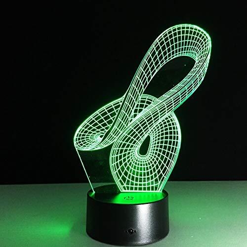 Abstracto geométrico artístico 3D Led lámpara USB creativo artístico moda luz nocturna diseño de moda decoración del hogar bombilla Rgbw remoto