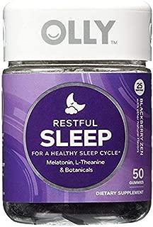 OLLY Restful Sleep Gummy Supplements, Blackberry Zen,2Pack ( 100 Count Each ) Nksl3hk