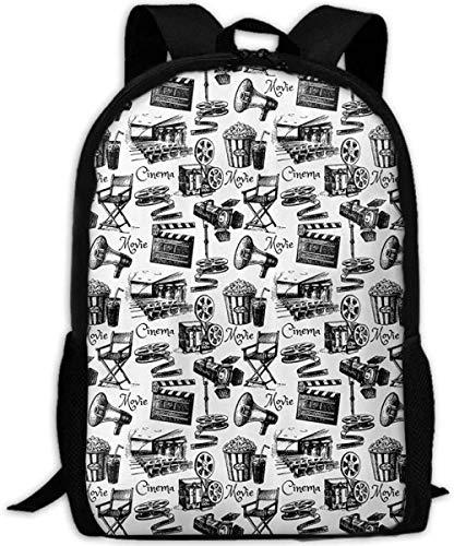 3D Gedruckter Rucksack,Stilvolle Schulrucksack,Casual Personality Daypacks Für Junge Mädchen Und Jungen,Filmbeleuchtung 3D-Druck Reiserucksack College School Laptoptasche Daypack Travel Umhängetas