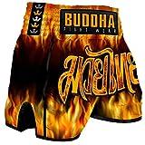 Pantalón Muay Thai Kick Boxing Buddha Retro Infierno