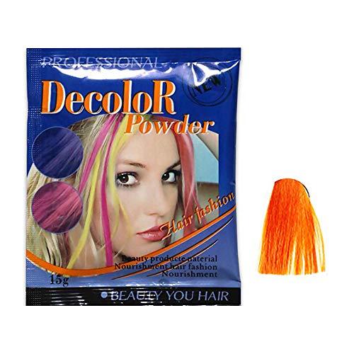 DDU - Tinte para el cabello decolorante, seguro para el color degradado, no daña el cabello, bronce dorado