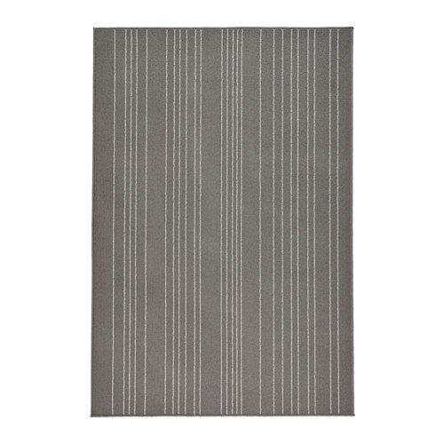 IKEA Hulsig - Alfombra, pelo corto, gris - 120x180 cm