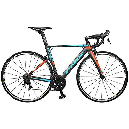 HRUI Carbon Rennrad 700C Kohlefaser Rennräder Fahrrad mit Shimano Ultegra 8000 22 Speed Schaltgruppe MAXXIS 700C25C Reifen und Sattel B 47cm