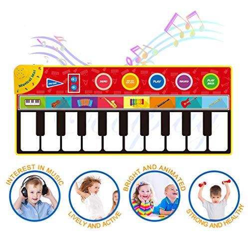 LNLJ Große Musical Klavier Mat Spielzeug, 8 Instrument Sounds 5 Wiedergabe-Modi, Aufbau-Lautsprecher Und Aufnahmefunktion, Geeignet Für 2 + Jahre Alten Jungen Mädchen Spielzeug 58.26