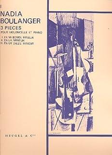 Nadia Boulanger: 3 Pieces No. 1 in E Flat Minor (Cello & Piano) Livre Sur la Musique