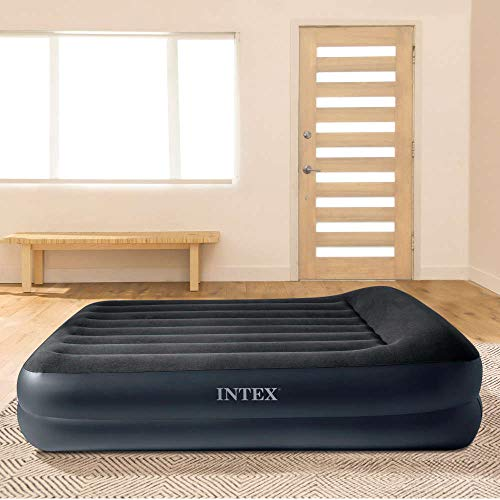 Intex 64124 - Colchón hinchable Dura-Beam Standard Pillow Rest 152 x 203 x 42 cm
