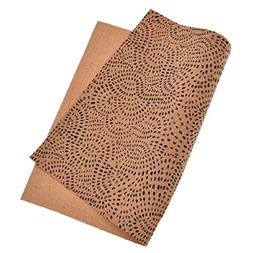 Kesheng A4 Korkstoff Leopard Schmetterling Punkten Braun für Nähen Basteln DIY