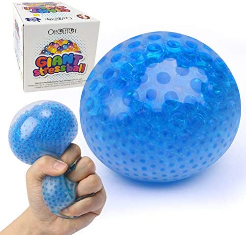 Giant Stress Ball, Green Water Bead Squeeze Toy for Kids, Teens and Adults, Fidget Toy Sensory Tool for Hand & Wrist to Vent Mood, Relieve Stress, Anxiety and Autism, Soft Novelty Pressure Ball