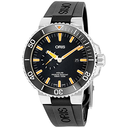 Oris Aquis Small Second Date Mens Stainless...