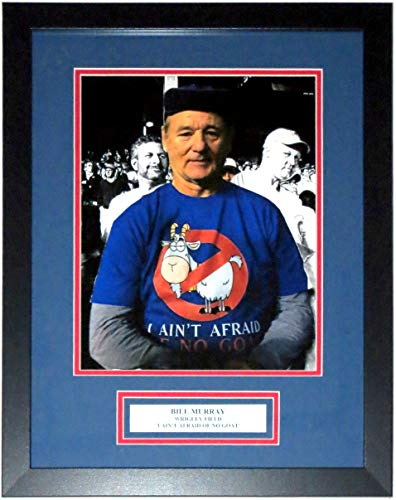 Bill Murray I Ain't Afraid of No Goat Chicago Cubs Ghostbusters 11x14 Photo - Professionally Framed & Wrigley Field Plate