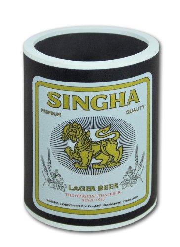 Wilai GmbH 2 Fodere Isolante in neoprene per mantenere le bottiglie/lattine birra soda (H.10,5) – Modello « Singha » nero (2x70225)