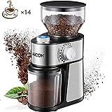 AICOK Molinillo de café eléctrico de 18 Grados Fino a