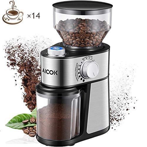 AICOK Molinillo de café eléctrico de 18 Grados Fino a Grueso...
