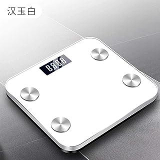 báscula de baño báscula báscula con indicador de Voz de Grasa Corporal Pantalla LED 69 función analizador de Datos báscula báscula Bluetooth Smart Body Fat Scale Blanco Improve