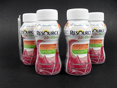 Nestle Resource 2.0+fibre Multifrucht 4 x 200 ml PZN 09882065