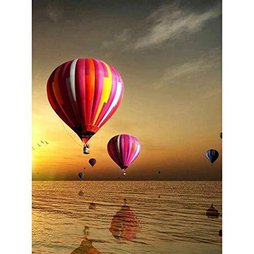 5D Diamant Schilderij Kits Volledige Boor Hot Air Balloon Scenery Grote DIY Diamant Borduurwerk Ronde Strass Steentjes Cross Stitch Mozaïek Kunst Geschenken voor Volwassenen Beginners Zxx5D 30x40cm