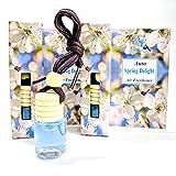 Aroma Essence - Deodorante per auto, 2 pezzi, per casa, ufficio, barca, roulotte, con fragranza di peonia, gelsomino e loto
