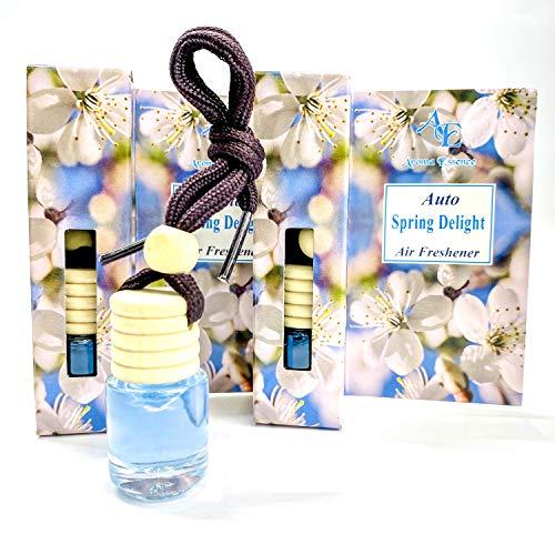 Aroma Essence Auto-Lufterfrischer, Spring Delight, 2 Stück, Lufterfrischer für Zuhause und Büro mit Duft von Pfingstrose, Jasmin und Lotus