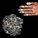 Kalolary 200pcs Punta ajustable para uñas postizas,Las manos de entrenamiento de manicura practican uñas postizas, Las uñas postizas son adecuadas para diseño de uñas(No incluye manos artificiales)