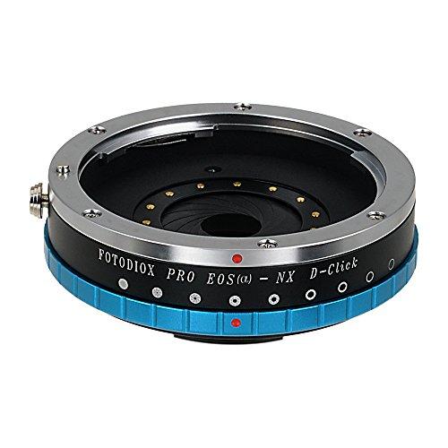 Fotodiox Pro EOSa-NX-Apt-DeClk - Adaptador de Objetivo Canon EOS EF Pas EFS a Samsung NX Samsung NX1/NX3000/NX Mini/NX30/Galaxy NX/NX2000/NX 1100/NX300/NX300M