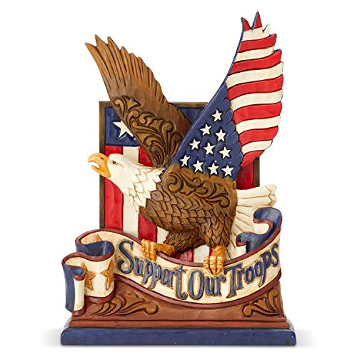 Enesco Jim Shore Heartwood Creek Heroes Wear Combat Boots Support Our Troops Eagle Figurine, 6.5 Inch, Multicolor