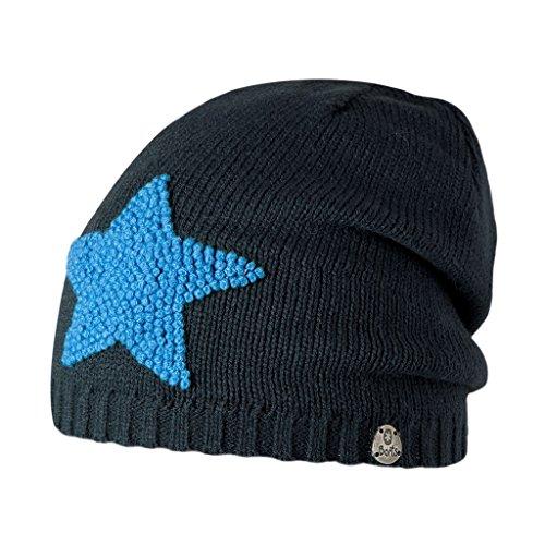 Salewa, Mütze Baddy Beanie, Blau (Blu Con Patch Stella Celeste), 55 cm (ab 8 Jahren)