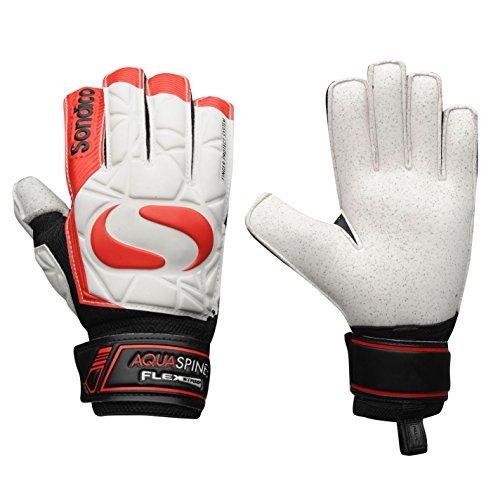 Sondico Unisex AquaSpine Torwart Handschuhe Weiß/rot UK 5