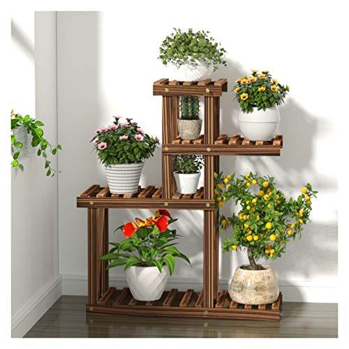 William 337 Stand de Plante en Bois de 4 Couches Plante Fleur Pot d'affichage Stand Jardin-terrasse Stand décoration intérieur et extérieur
