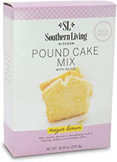 Gourmet Pound Cake Mix – Meyer Lemon Pound Cake Mix from Southern Living – Rich, Moist, Buttery, Tangy, Sweet Pound Cake with Glaze