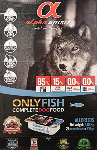 ALPHA SPIRIT Alimento Completo Semi Húmedo Only Fish para Perro - 27 Bandejas