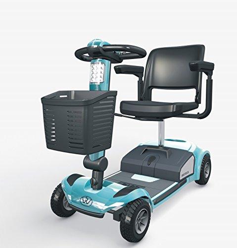 SWEMO Mobility Scooter 6 KM/H Kompakt-Elektromobil für Senioren (rot)