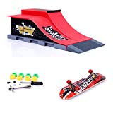 MOMSIV Mini Skateboard per Dita con rampa e Set di Accessori, E