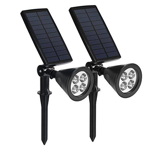 Lampada Solare Wireless da Esterno, Luci Solari con 4...