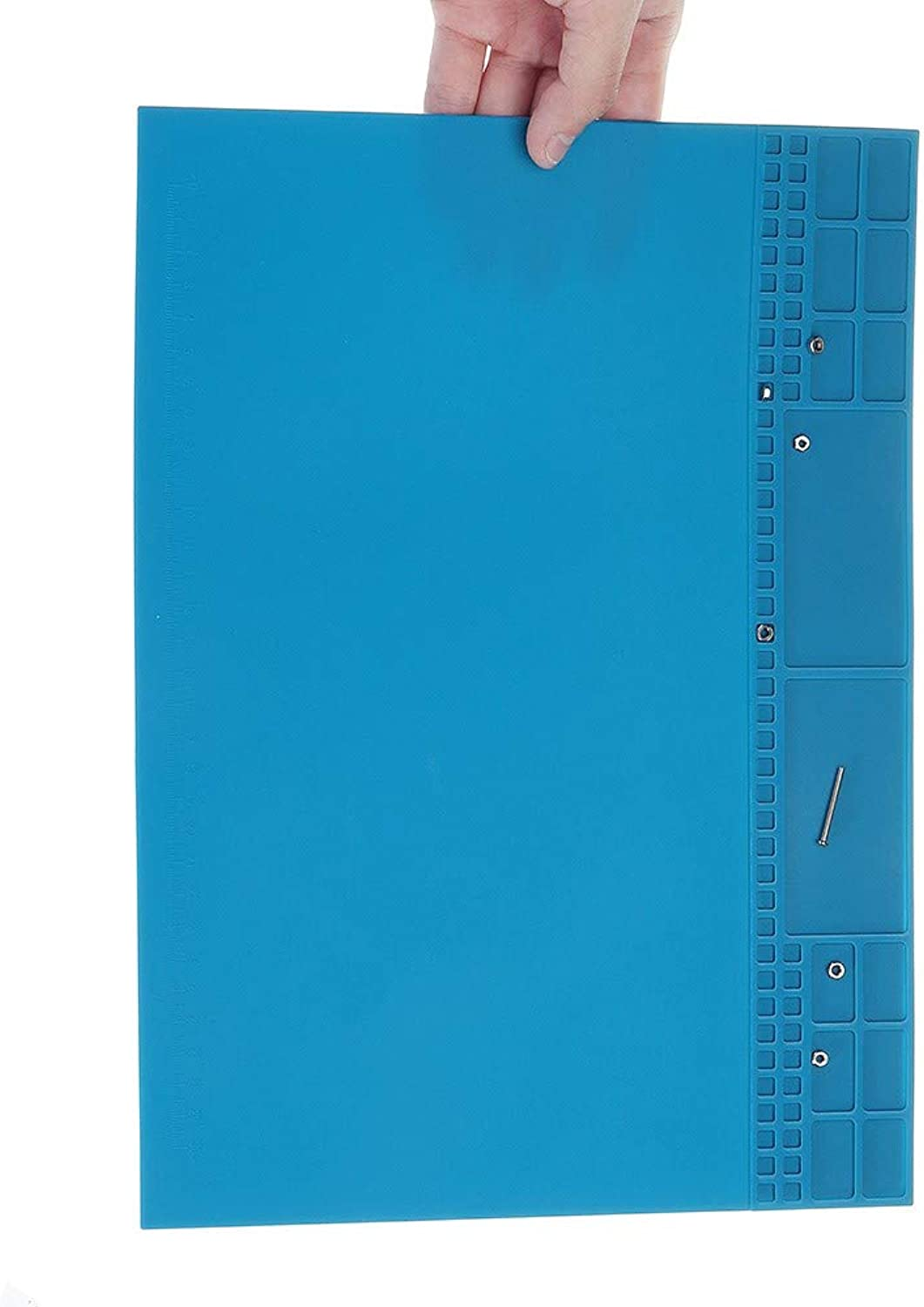 Professional Tools Magnetic RYT r Heat Insulation Soldering Silicone Pad Maintenance Platform with Screw Area 25x35cm