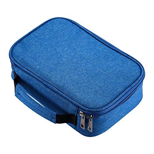 AMGOMH Estuches, 72 ranuras portalápices Caja de lápiz de Estudiantes Organizador Estuche Escolar de caso lapices de colores lápiz bolsa de arte dibujo Estuches Escolares Pencil Case (Azul)