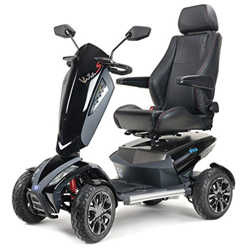 TGA Vita Sport Deluxe 4 Wheel Sport Class 3 Mobility Scooter - Metallic Black