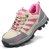Zapatos de seguridad Calzado casual y liviano con fondo suave, puntera de acero y zapatos de seguridad a prueba de golpes, zapatos de trabajo de verano transpirables y con protección desodorante botas