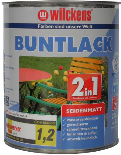 Wilckens 2in1 Buntlack seidenmatt, RAL 6005 moosgrün, 750 ml 12460500050